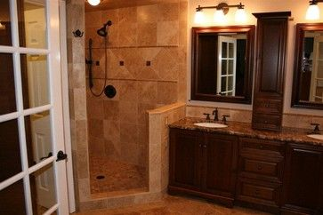 Beautiful Bathroom Remodel With Our Noce 18x18 Honed And