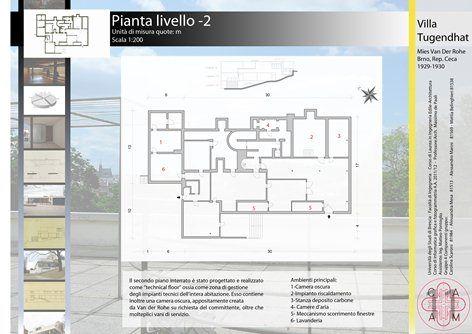 Studio e restituzione grafica di Casa Tugendhat by Mies Van der Rohe, Brescia, 2012
