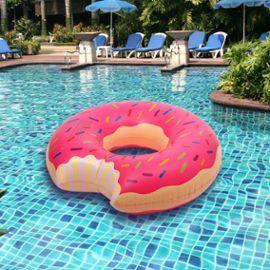 Bouée Géante Donut Pneumatique Cercle Flamingo Piscine Gonflable Jouets Natation