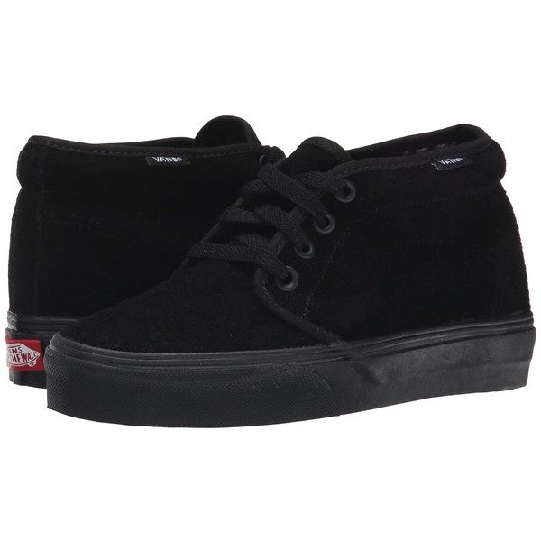 Vans Chukka Boot Core Classics (Black/Black (Suede)) Shoes ($60) ❤ liked on Polyvore featuring shoes, boots, black shoes, chukka boots, black lace up boots, black chukka boots and suede chukka boots