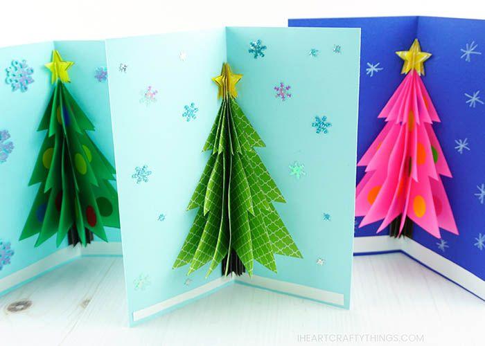 How To Make A 3d Christmas Card 3d Christmas Cards Christmas Cards Kids Christmas Cards To Make