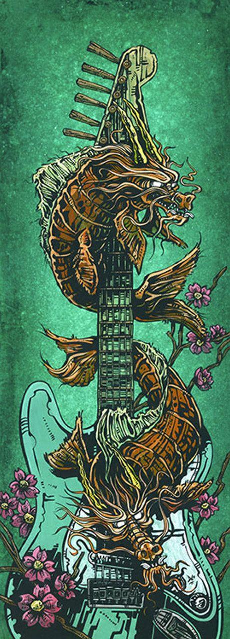 Purple Leopard Boutique - Koi Dragon Strat by David Lozeau Tattoo Canvas Giclee Electric Guitar, $65.00 (http://www.purpleleopardboutique.com/koi-dragon-strat-by-david-lozeau-tattoo-canvas-giclee-electric-guitar/)