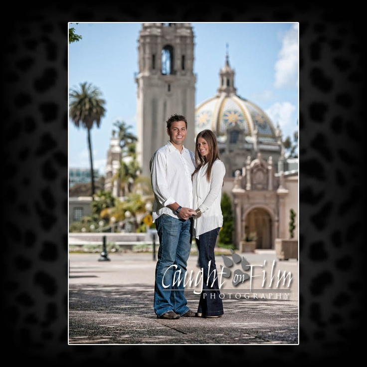 Engagement photos at balboa park san diego