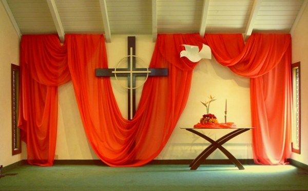 52 best pentecost banners images on pinterest for Altar wall decoration