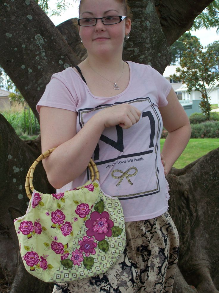 Fun floral bag perfect for a quick dash to the shops