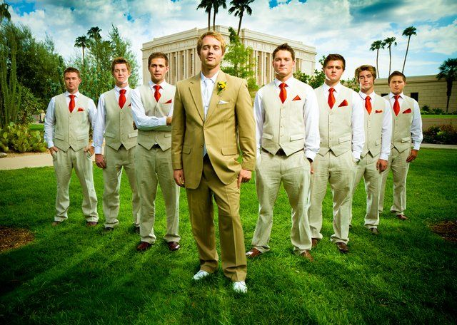 Groomsmen Wedding Group Photo