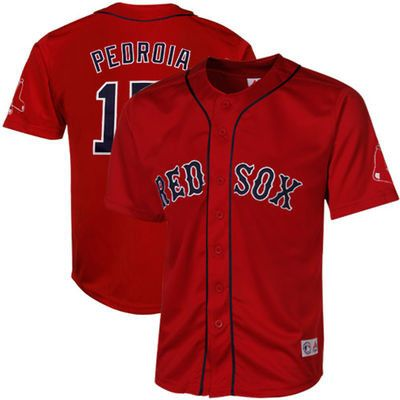 Dustin Pedroia Men's Cool Base Boston Red Sox Majestic Scarlet Jersey