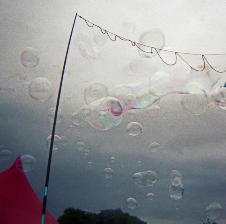 Festival Bubbles.  Festival Number 6, Portmeirion, North Wales.  . Taken on 120 film using a Holga camera.  © Chris Trew / Plastic Cameras 2012