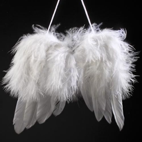 Baby-Angel-Feather-Wing-Decor-Christmas-Tree-Party-Hanging-DIY-Ornaments-White