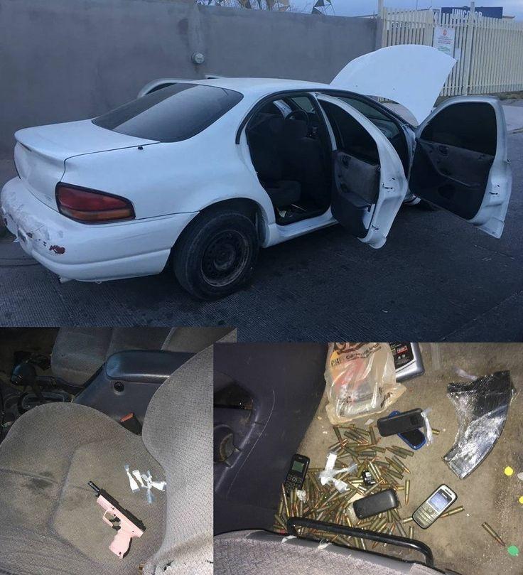 Asegura Grupo de Élite arma, droga ycartuchos en un vehículo abandonado en la colonia 24 de Junio | El Puntero