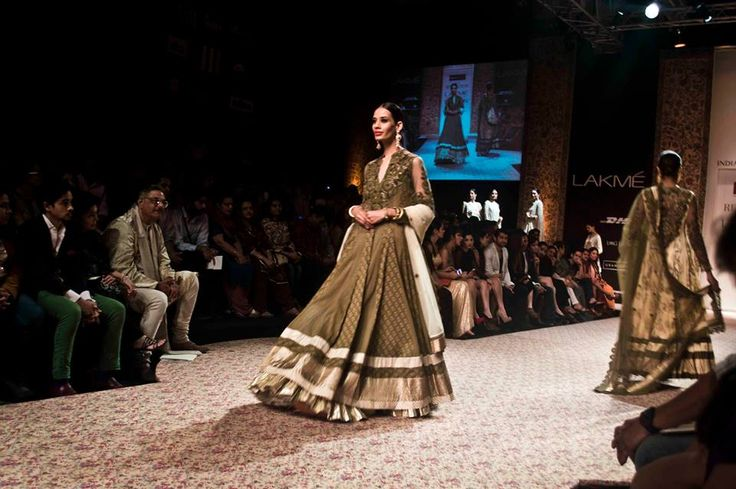 One of the closing looks from our Reliance jewels presents Ritu Kumar show at Lakme Fashion Week.