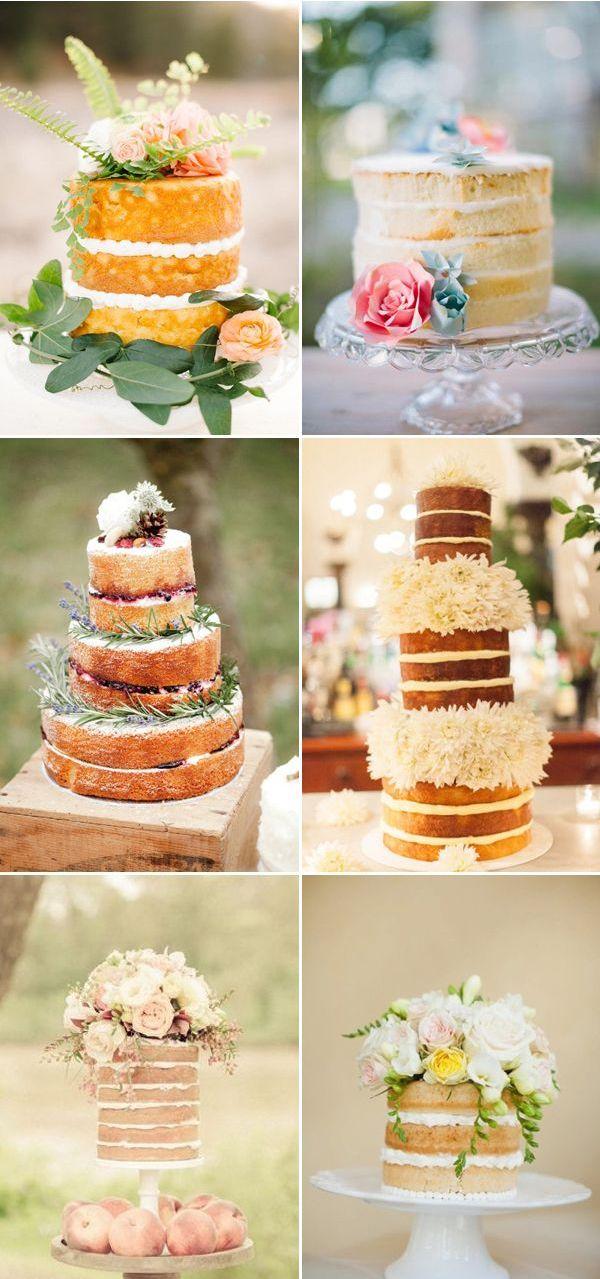 One Small Naked Wedding Cake