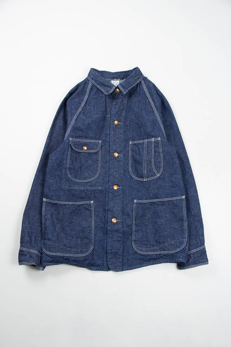 Indigo One Wash 1950s Coverall by orSlow – The Bureau Belfast