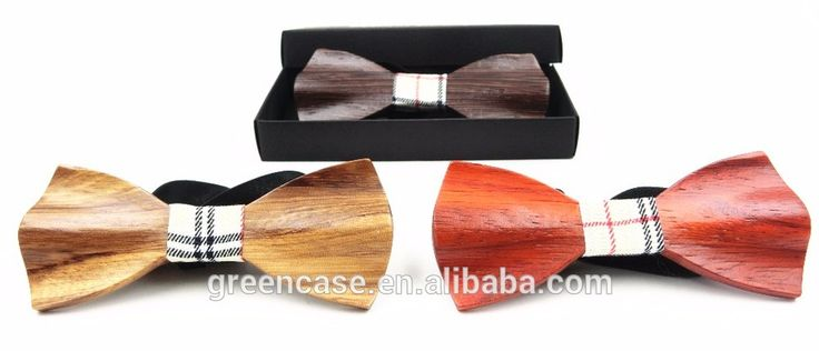 Christmas Bow Ties Logo Bow Tie Wooden Bamboo Bowtie for Man