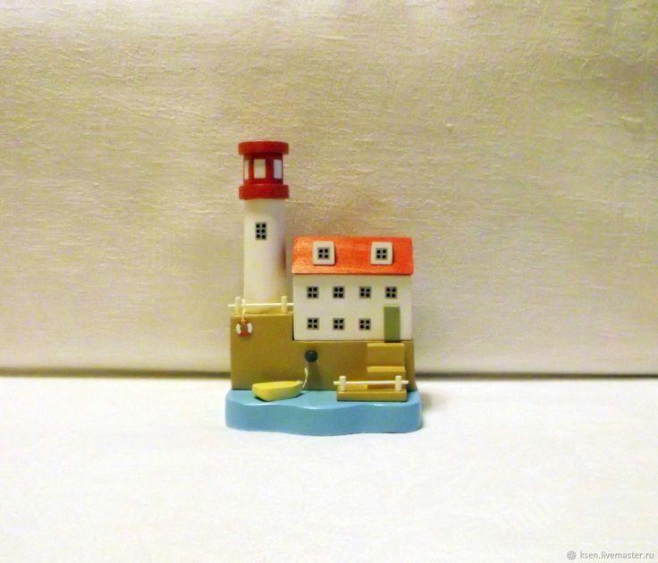 Купить Домики, миниатюра, море, маяк, декор дома в интернет магазине на Ярмарке Мастеров