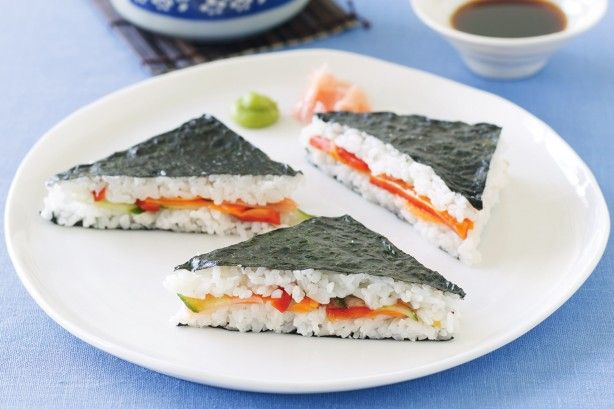 Entertain in style with these delicious sushi sandwiches.