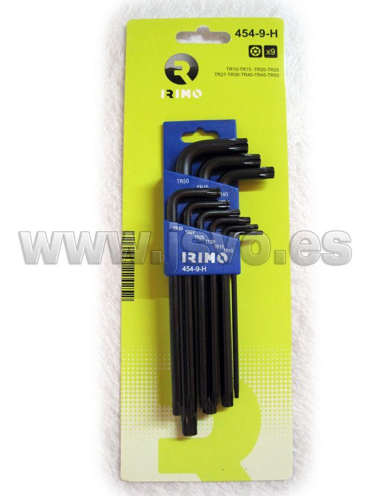 Juego 9 llaves Torx inviolables IRIMO 454-9-H #herramientas #bricolaje #taller #IRIMO