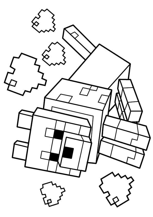 Clean image inside printable minecraft coloring pages