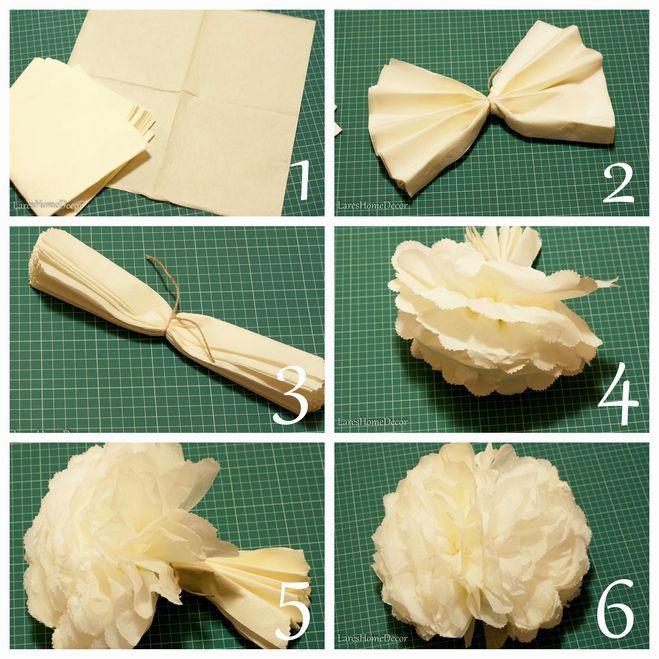 Как сделать большие цветы из бумаги, гофрированной бумаги? Мастер-класс?