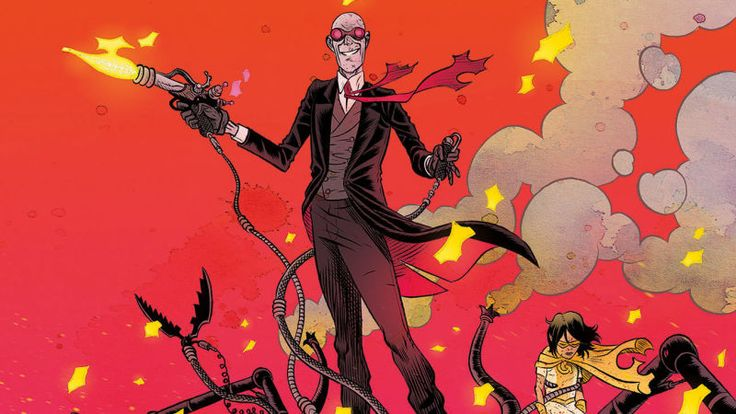 The AV Club presents: The world of Black Hammer expands in this Sherlock Frankenstein #1 exclusive -- due out this week, 10/18! #darkhorse #comics #blackhammer #eisneraward #jefflemire #davidrubin
