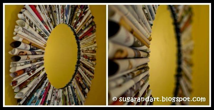 Magazine Mirror Frame