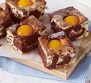 Stracciatella-Marmorkuchen mit Aprikosen