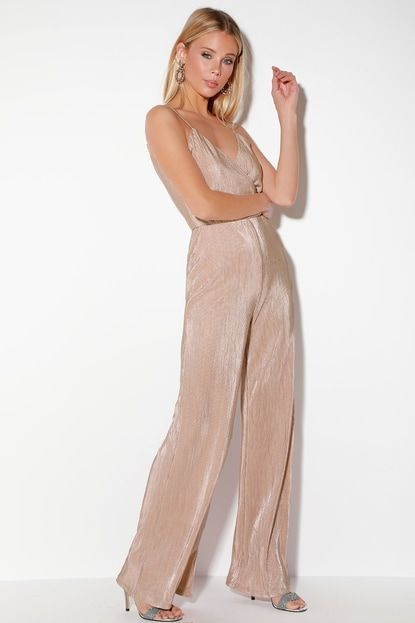 1f1f8a0431d5 Go the Distance Blush Pink Sparkly Wide-Leg Jumpsuit in 2019