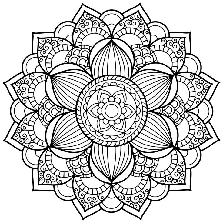 12 best mandalas para colorear images on Pinterest | Print coloring ...