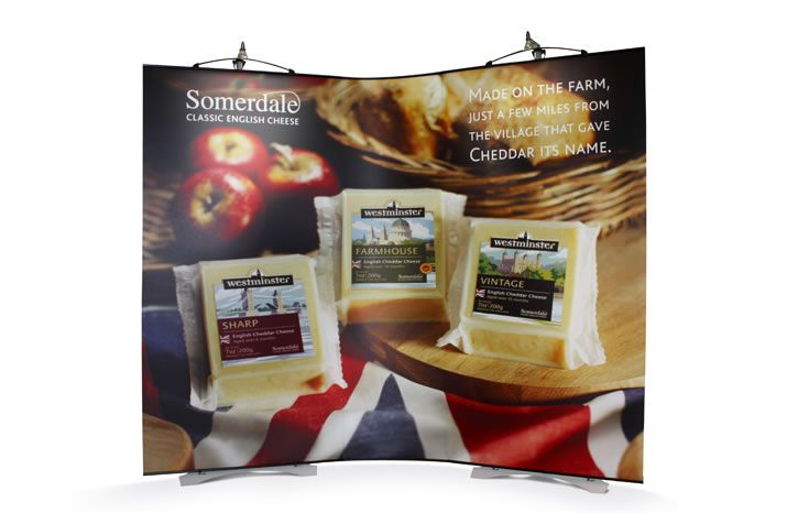An easy to transport exhibition stand for our clients, Somerdale Cheese