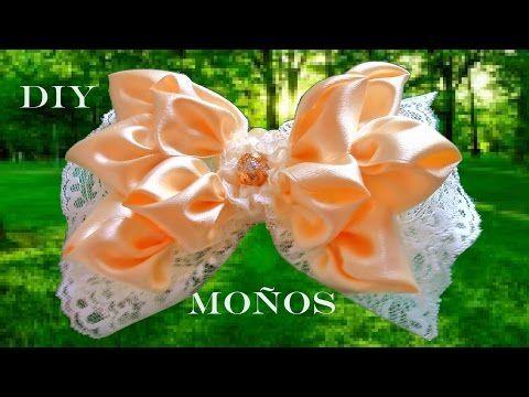 DIY moños y lazos para el cabello en cintas - ribbons and bows in satin ribbons - YouTube