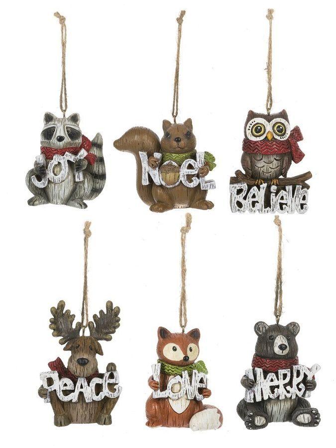 Ganz H8 Christmas Woodland Friends Ornament 2.5in EX20727 Choose