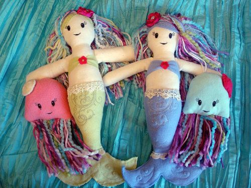 Mermaid Doll Tutorial Sewing Pattern by OneStarAway                                                                                                                                                                                 More