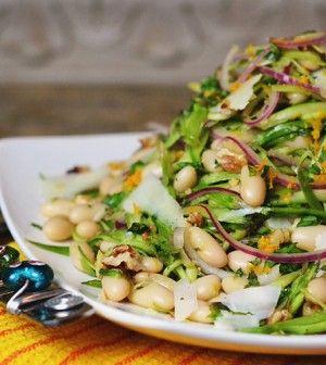 Shaved Asparagus & White Bean Salad - Clean Eating - Clean Eating