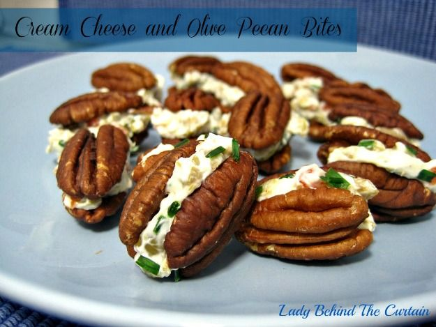 Lady Behind The Curtain - Cream Cheese and Olive Pecan Bites