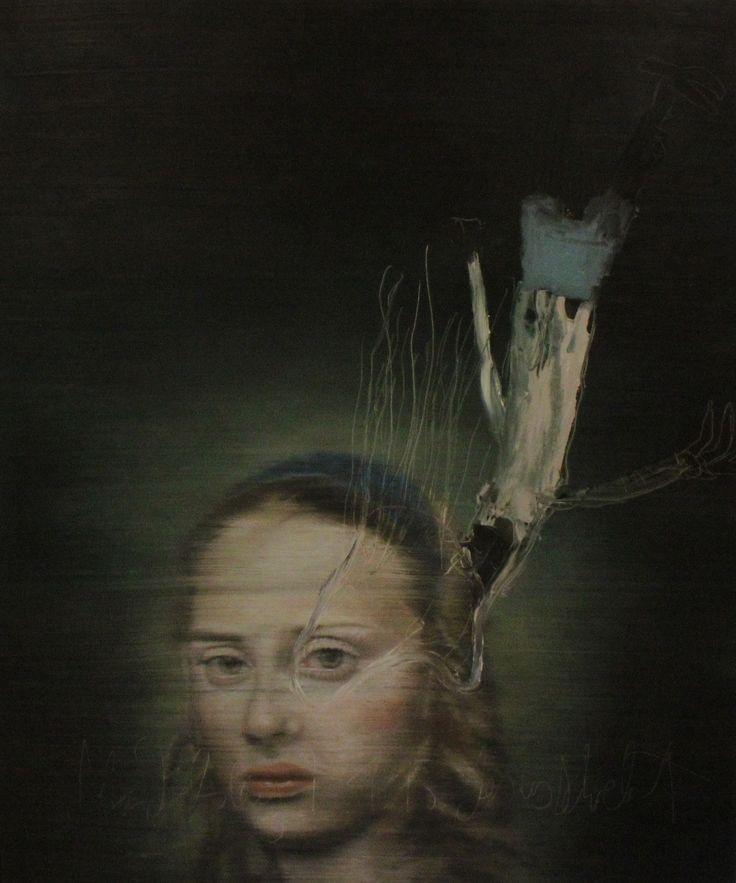 """Jesus schwebt"" Öl auf Leinwand 121x101cm 2015"