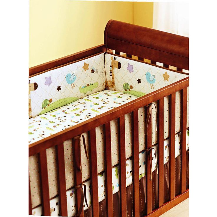 4 Piece Baby Cot Bumper Set Protectors in Giraffe | Buy New Arrivals