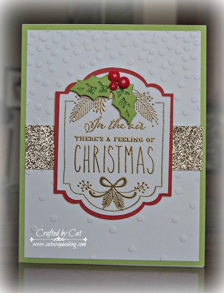 Color Dare 171 ~ White Pines WOTG Stamp ~ Christmas Card ~ CatScrapbooking.com