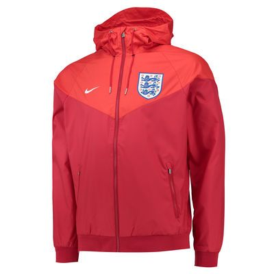 England National Team Nike Authentic Windrunner Jacket - White/Royal