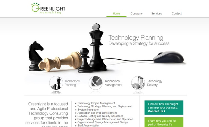 Greenlight Consulting, a technology consulting firm.  www.greenlightconsulting.ca