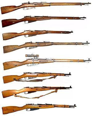 The Mosin–Nagant (Russian: Винтовка Мосина, ISO 9: Vintovka Mosina) is a bolt-action, internal magazine-fed, military rifle invented under the government commission by Russian and Belgian inventors, and used by the armed forces of the Russian Empire, the Soviet Union and various other nations.