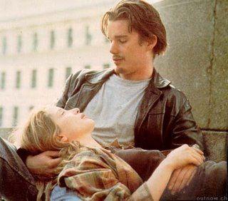 "Julie Delpy y Ethan Hawke en ""Antes del amanecer"" de Richard Linklater (1995)"