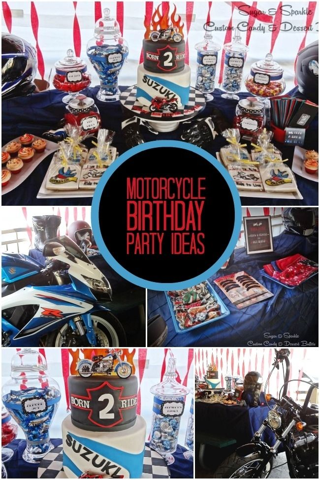boy's motorcycle birthday party ideas www.spaceshipsandlaserbeams.com