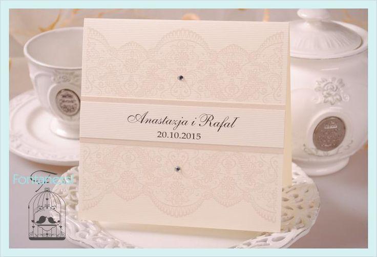 VELVET Zaproszenia Ślubne Ślub koronkowe KRYSZTAŁK