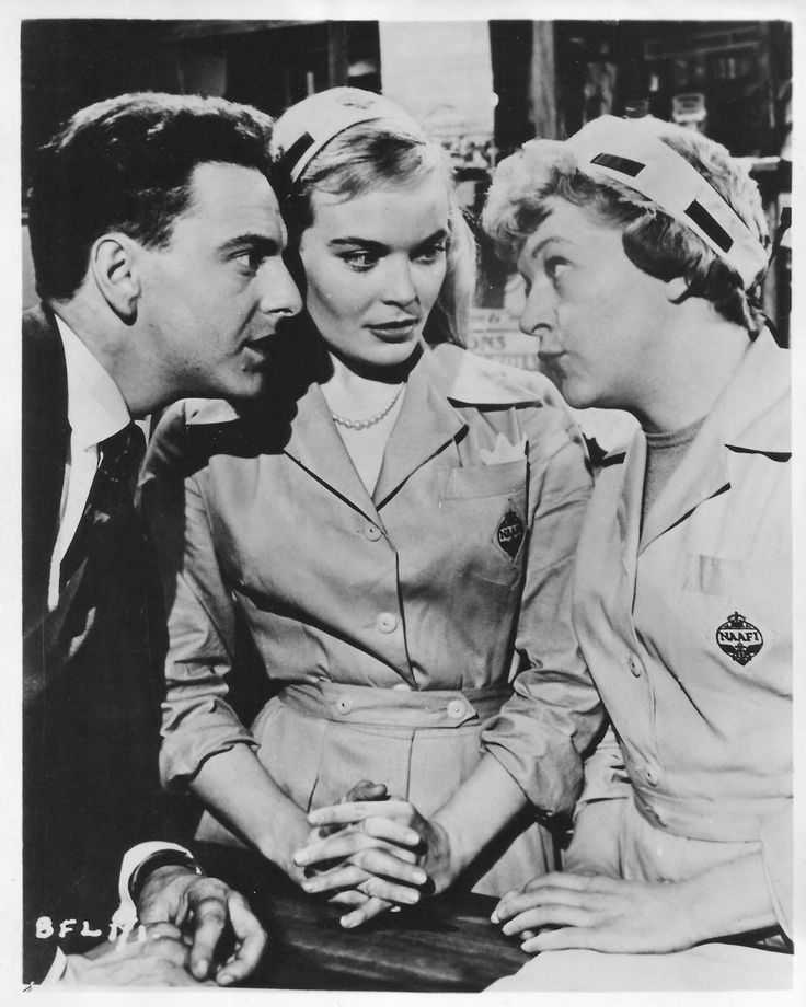 Bob Monkhouse, Shirley Eaton and Dora Bryan. Carry On Sergeant. 1958