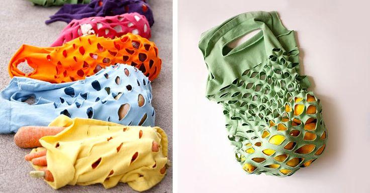 Riciclare una maglietta per creare una borsa