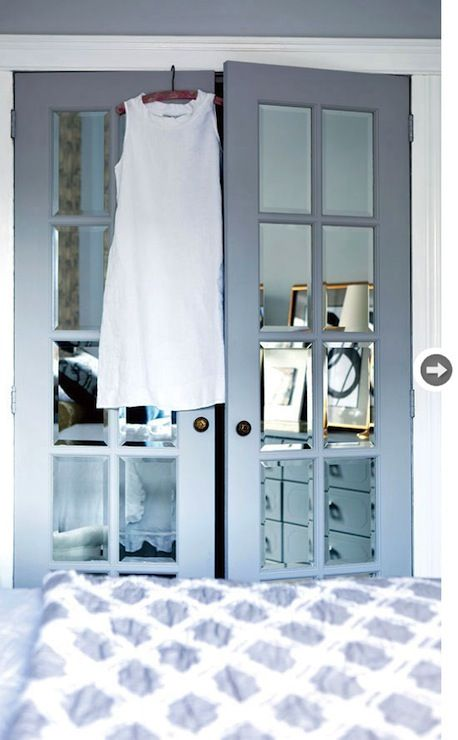 Mirrored Closet Doors Future Home Inspiration Pinterest Blue And White Bedding Style And