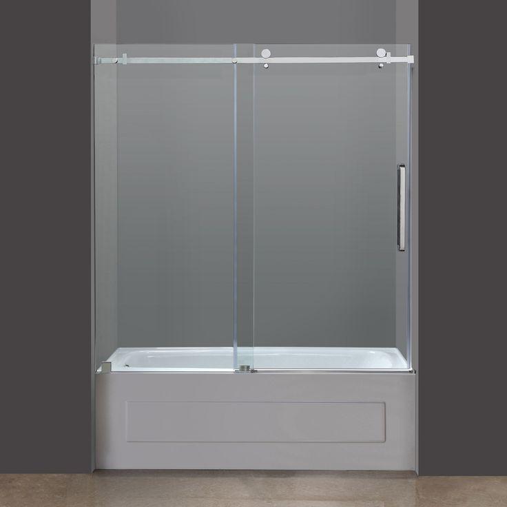 650 overstock aston frameless glass sliding tub door overstock shopping big discounts on aston shower doors