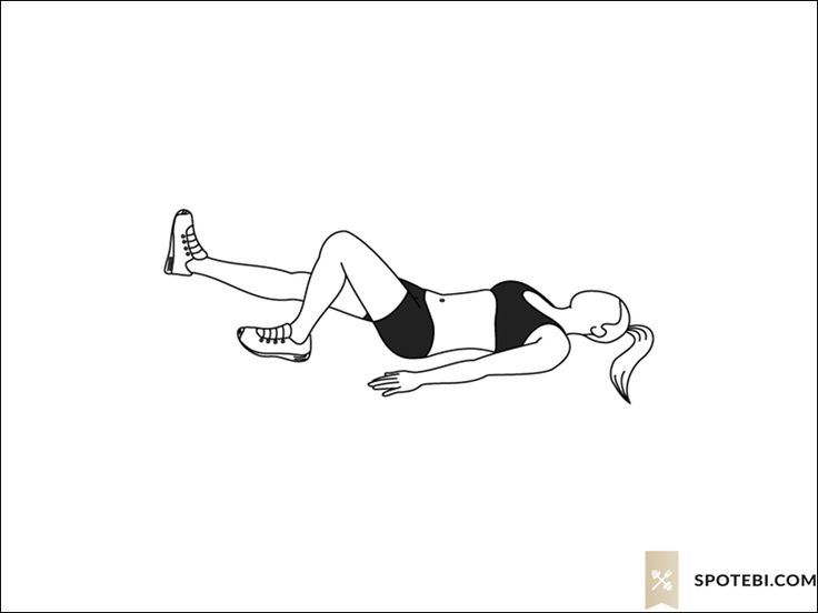 Single leg bridge exercise guide with instructions, demonstration, calories burned and muscles worked. Learn proper form, discover all health benefits and choose a workout. http://www.spotebi.com/exercise-guide/single-leg-bridge/