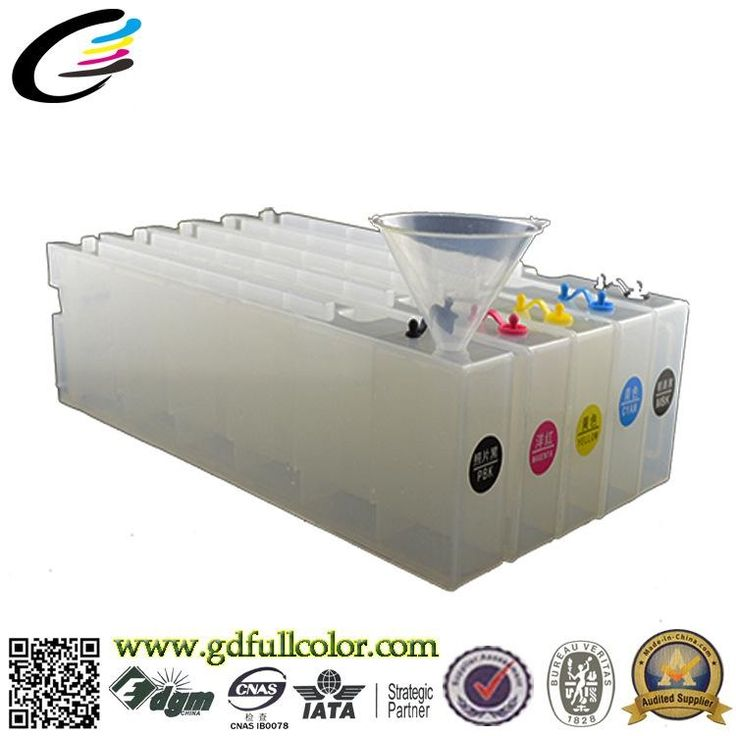123.98$  Watch here - http://ali90l.worldwells.pw/go.php?t=32624980678 - 1200ML Refill ink Cartridge for Epson SureColor SC-T7080 T5080 T3080 inkjet printer cartridge with 10pcs Reset Chip
