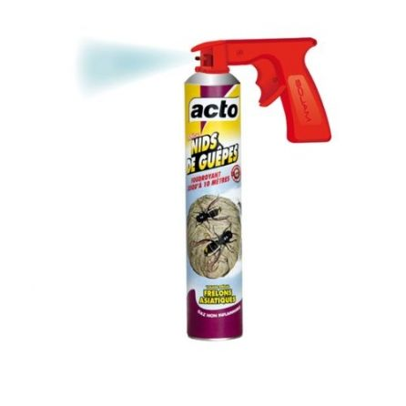 Aérosol spécial nids de guêpes, spécial frelons asiatiques Acto